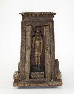 """theancientwayoflife: """"~ Portable shrine. Place of origin: Egypt Period: Ptolemaic Dynasty Date: 305-30 B.C. """""""