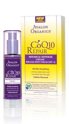 Avalon Organics CoQ10 Wrinkle Defense Crème - Broad Spectrum SPF 15