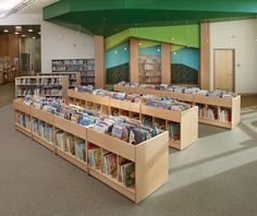 Trust Demco for school and library furniture, supplies, and equipment for high-impact learning spaces Public Library Design, Bookstore Design, School Library Design, Elementary School Library, Public Libraries, K12 School, School Libraries, School Classroom, Library Organization