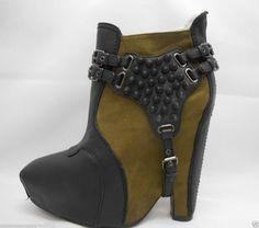 8687215c1 Sam Edelman Zoe 2 Black green Boot Womens Size 7.5 M