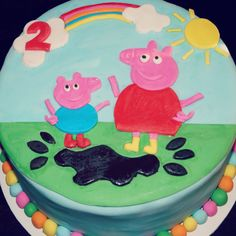 Peppa Pig and George! Birthday cake made with love by me! Xx