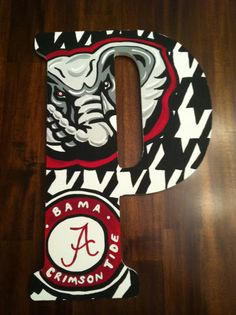 Custom Hand Painted Alabama Door Hanger/Wall Art by DAMartndesign, $65.00