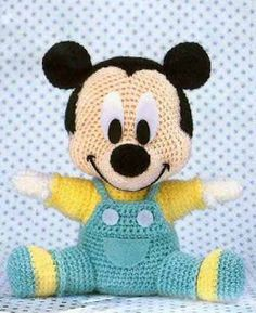Amigurumi- Baby Mickey. I MUST figure out how to make this!