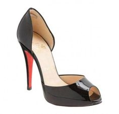 Christian Louboutin Madame Claude d'Orsay Peep Toe Pumps Black