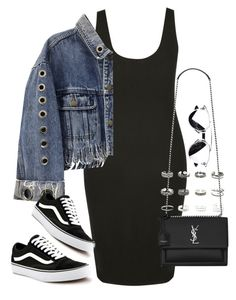 """""""Untitled #2238"""" by sarah-ihab ❤ liked on Polyvore featuring Vans, Retrò and Yves Saint Laurent"""