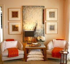 where to hang art, how high to hang art, picture groupings