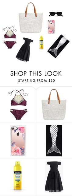 """the new maverick beach day"" by onken-grace ❤ liked on Polyvore featuring interior, interiors, interior design, home, home decor, interior decorating, Seafolly, Casetify, PBteen and Neutrogena"