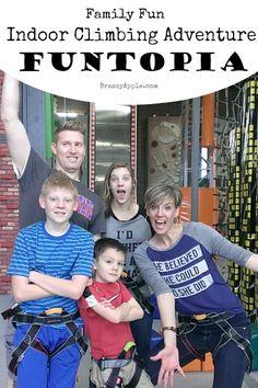 indoor climbing adventure - brassyapple.com family fun
