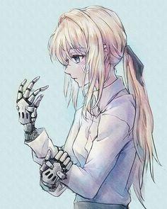 Recently though, I finished watching a new anime called Violet Evergarden that I found on Netflix. Manga Anime, Fanart Manga, Manga Girl, Anime Art, Chibi, Violet Evergreen, Bd Art, Character Art, Character Design