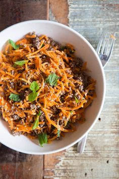 CARROT SALAD WITH MINCED MEAT – WHOLE30 APPROVED