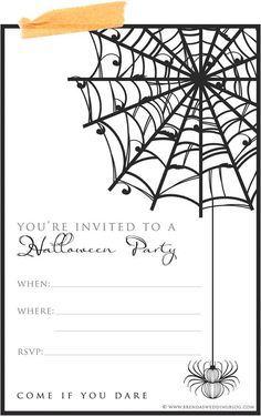 Printable Halloween Party Invitation : simply download and fill in the blanks and then mail to all your guests {sized as a 4x6} by cherry