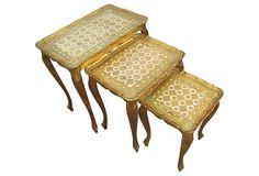 Florentine  Nesting  Tables, S/3 on OneKingsLane.com