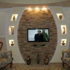 – tv ünitesi – Tv Units Welcome Home Lcd Wall Design, False Ceiling Design, Wall Unit Designs, Living Room Tv Unit Designs, False Ceiling Living Room, Home Ceiling, Rustic Fireplace Mantle, Tv Wanddekor, Modern Tv Wall Units