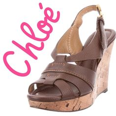 """Chloé Brown Leather Wedges - Sz 6.5 - Retail $770 Chloé brown leather wedges with cork covered heels and buckle closure at ankles. Excellent used condition. Very light scuffing at soles. All pics are of actual shoes. Measurements: Heels 4"""". Platform 1"""".  Size US 6.5/IT 36.5. Retail $770.       ✅Always Authentic✅ ⬇️Bundle & Get 10% Off & Save on Shipping⬇️ ❌Trades❌PayPal❌ Chloe Shoes Wedges"""