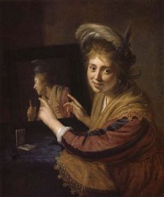Paulus Moreelse - Girl with a mirror (1632)