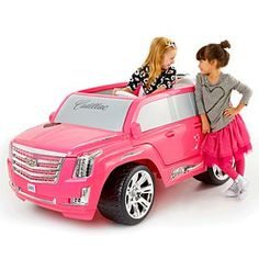Check out the Power Wheels Barbie Cadillac Escalade at the official Fisher-Price website. Explore the world of Power Wheels today! Power Wheel Cars, Power Wheels, Toy Cars For Kids, Kids Toys, Kids Motorized Cars, Birthday Party Games For Kids, 10 Birthday, Birthday Presents, Princess Carriage