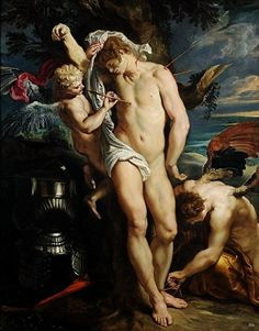 The Wounds of St. Sebastian Tended by Angels.  1608-10.Peter Paul Rubens. Flemish 1577-1640. oil/canvas.http://hadrian6.tumblr.com
