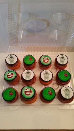 Ghost busters eatable cup cakes