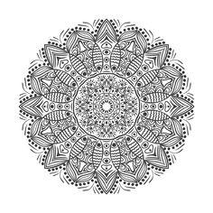 Very hard Mandala to color