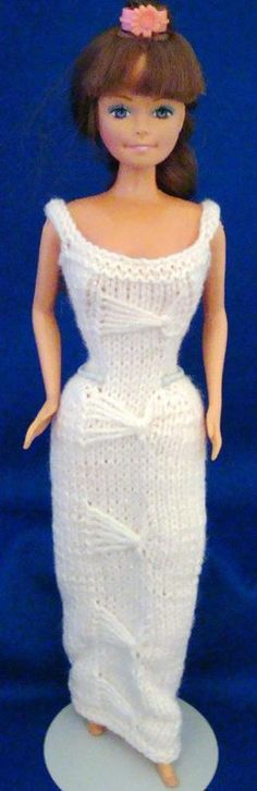 """Ladyfingers - Barbie - Long Gown with """"Butterfly"""" Fancy Stitch Down the Front"""