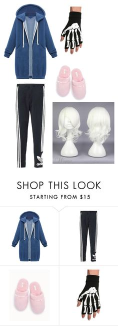 """""""Undertale-Sans Cosplay"""" by intothetrashcanwego ❤ liked on Polyvore featuring WithChic, adidas Originals and Soma"""