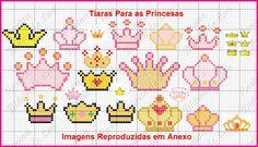 Coroas princesas ponto cruz