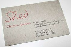 21 Business Cards from Recycled Paper