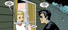 Tim Drake and Stephanie Brown-dying of the cuteness