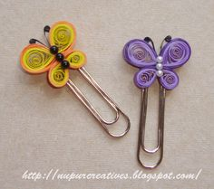 Quilled Bookmarks by -nupurcreatives.blogspot.in