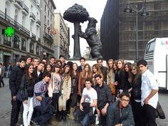 Los alumnos de 3º y 4º de ESO viajan a Madrid . Allí  han disfrutado de unos días inovidables viendo sus edificios más emblemáticos y disfrutando también de actividades de ocio. Colegio San Cristóbal - Castellón.