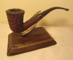 Vintage Raffaello Rusticated Bent Dublin Briar Estate Tobacco Smoking Pipe #807