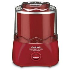 Cuisinart Electric Ice Cream Maker at Lowe's. The Cuisinart Automatic Frozen Yogurt-Ice Cream and Sorbet Maker in Red allows you to enjoy the finest homemade frozen treats – at home! Eggnog Ice Cream, Yogurt Ice Cream, Ice Cream Pops, Strawberry Ice Cream, Ice Cream Desserts, Dessert Book, Dessert Makers, Frozen Drinks, Frozen Desserts
