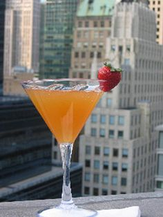 French Martini1.5 oz vodka 1/2 oz Chambord 2 oz. pineapple juice Shake ingredients with ice and strain into a martini glass. Garnish with a pineapple wedge or a leaf from the pineapple for a sleek modern look.   - MarieClaire.com