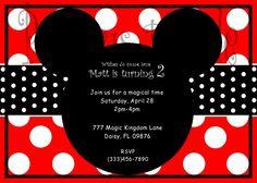 Mickey Mouse Invitation. $11.00, via Etsy.