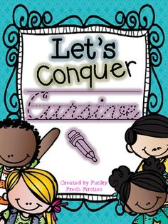 Let's Conquer Cursive a cursive handwriting workbook. perfect for independent practice, a take home workbook.or day by day practice Teaching Cursive Writing, Teaching Handwriting, Improve Your Handwriting, Handwriting Practice, Handwriting Books, Handwriting Analysis, Third Grade Writing, Cursive Alphabet, Teacher Tools