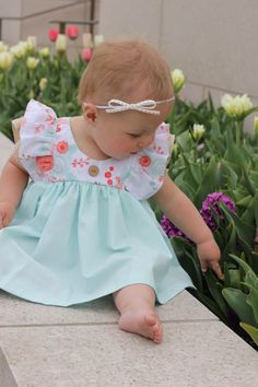 A personal favorite from my Etsy shop https://www.etsy.com/listing/503618533/mint-gold-coral-toddler-dress-1st