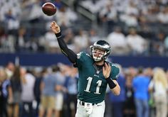 Perhaps the next great NFL quarterback rivalry takes the Sunday Night Football on NBC prime time stage as Carson Wentz leads the 4-2 Philadelphia Eagles into AT&T Stadium against Dak Prescott and the NFC East leading Dallas Cowboys in an 8:00 p.m. kickoff with the division lead on the line.