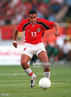 Football 2002 World Cup Qualifier African Second Round Group C 30th June 2001 Rabat Morocco 1 v Egypt 0 Egypt's Tarek Said