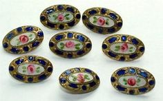 SET-OF-8-LOVELY-VICTORIAN-HAND-PAINTED-ENAMEL-BUTTONS-LOT-373