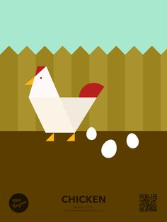 Family pets Education puzzle_Chicken   #PlayTangram #Colorful #Modern #Minimal #Puzzle #Learning #Flat #ios #iphone #Nature #Children