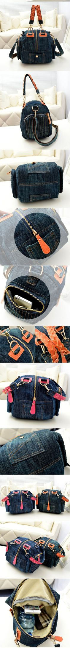 2017 Новый Повседневная женская джинсовая сумка Женщины малый сумки на ремне vintage blue jeans crossbody сумка дамы кошелек 2 цвета bolsa feminina купить на AliExpress
