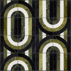Arc Soul Polished Marble By Elizabeth Sutton: Pattern 1 Floor Patterns, Tile Patterns, Mosaic Tiles, Wall Tiles, Mosaics, Who Is A Mother, Estilo Art Deco, Fluid Design, Commercial Flooring