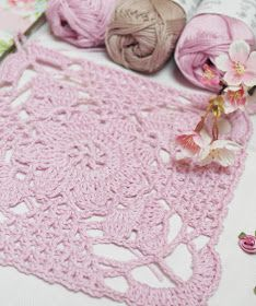 .: Crochet pattern summer lace square - Mönster - spets ruta Doily Patterns, Crochet Patterns, Doilies, Kids Rugs, Summer, Inspiration, Mandalas, Do Crafts, Biblical Inspiration