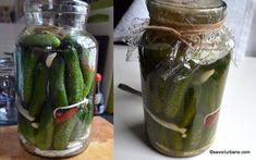Gogonele murate la borcan reteta pas cu pas   Savori Urbane Pickling Cucumbers, Pickles, Easy Meals, Favorite Recipes, Canning, Urban, Food, Homestead, Blue Prints