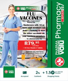 Winter is on its way.  Getting a flu vaccine is important for health.  It is is also important to look after your wealth.  Save when you spend at any of our merchants