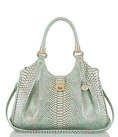Brahmin Opal Seville Collection Elisa SnakeEmbossed Hobo Bag #Dillards