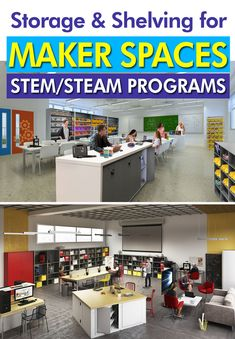 Need to save space in your school or university? Our shelving systems are perfect for everything from textbook centers to janitorial supplies. Stem Steam, Shelving Systems, Cabinet Design, Storage Shelves, Storage Solutions, Space Saving, 3d Printing, Coding, Classroom