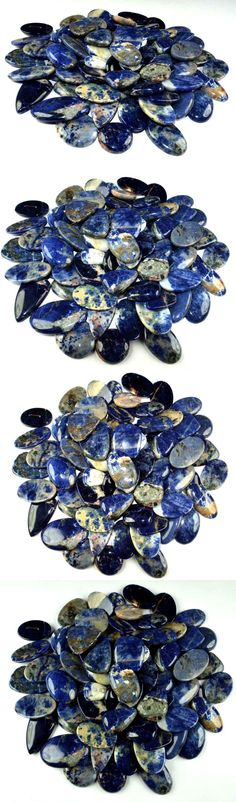Sodalite 69179: 1000Cts 100% Natural Sodalite Mix Shape Loose Gemstone Cabochon Wholesale Lot -> BUY IT NOW ONLY: $45.99 on eBay!