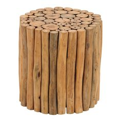 16 Organic Inspired Arranged Teak Wood Stump Cylinder Stool vertical stumps form sliced wood top with smooth natural surface flat bottom base Color: Multi-Colored. Teak Wood Stool - Olivia & May Multi-Colored Wood Stool, Teak Wood, Wood Stumps, Wood Logs, Wood Rounds, Wood Accents, Brown Wood, Wood Furniture, Furniture Sale