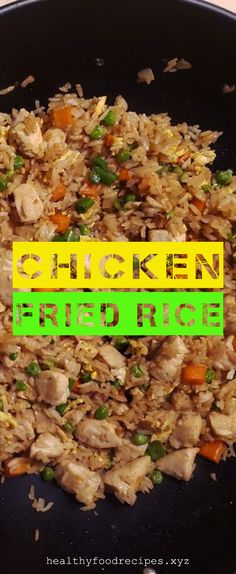 Easy & Delicious Chicken Fried Rice Recipe you must try at home Chicken Fried Rice Chinese, Chicken Fried Rice Recipe Easy, Chicken Fried Cauliflower Rice, Chicken Rice Recipes, Easy Rice Recipes, Broccoli Chicken, Fried Rice Calories, Carbs In Chicken, Fried Rice Recipe Indian